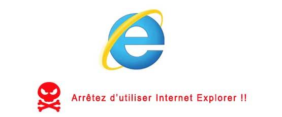Arrêtez d'utiliser Internet Explorer