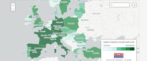 Les chiffres de l'agriculture biologique en Europe