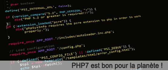PHP7 est bon pour la planète