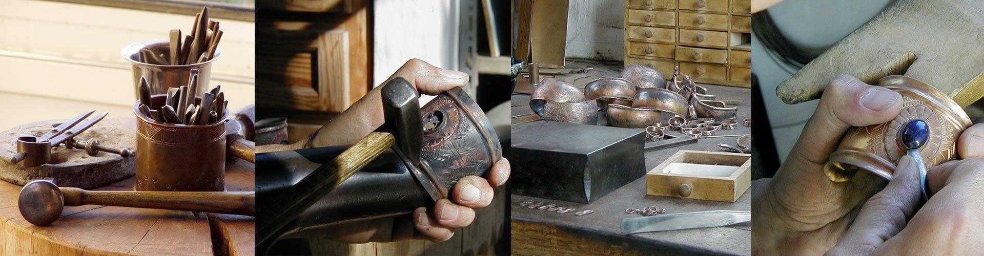Atelier Maxime de Simone, bijoux bronze, bijoux argent, bijoux d'inspiration médiévale à Lauroux en Coeur d'Hérault