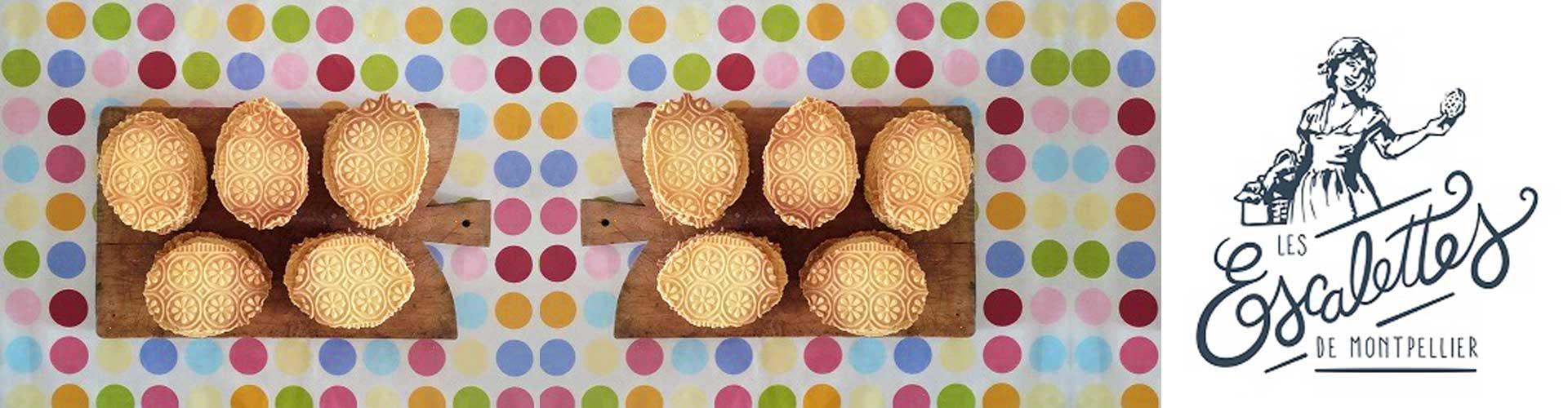 Spécialité de l'Hérault, les escalettes de montpellier, un biscuit authentique