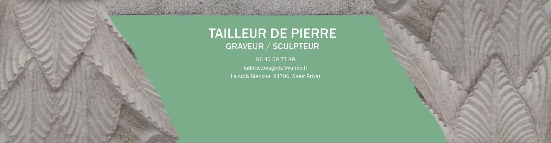 Ludovic Bougette taille de pierre en Coeur d'Hérault