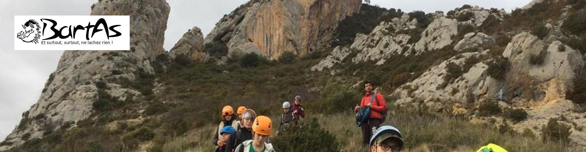 Club Bartas, escalade et canyoning en vallée d'Hérault à Saint André de Sangonis