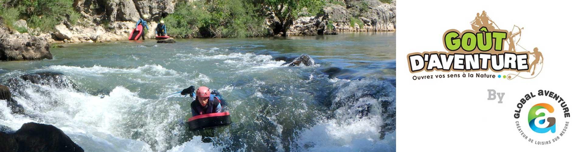 Goût d'aventure, canyoning, hydrospeed, escalade, via ferrata dans les gorges de l'Hérault à Aniane