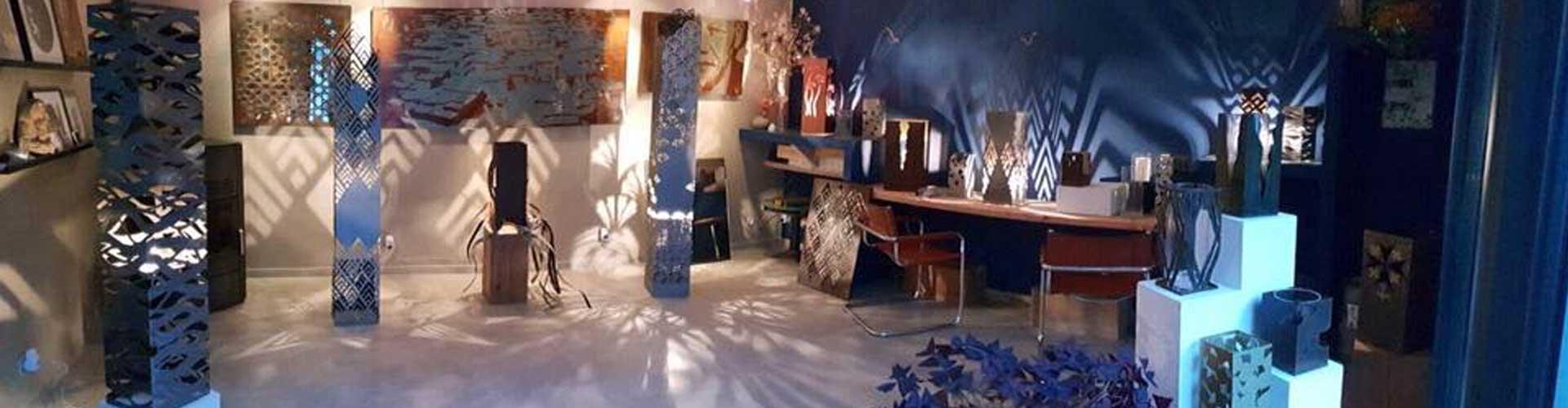 Karima Tahiri sculpteure de lumière,  La Vacquerie et Saint-Martin de Castries, l'Hérault