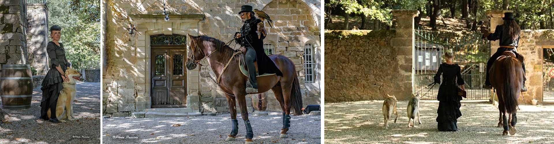 Le cheval et l'art, spectacles Fontès