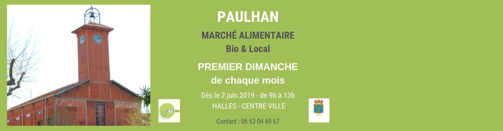 Marché Bio et Local de Paulhan dans l'Hérault