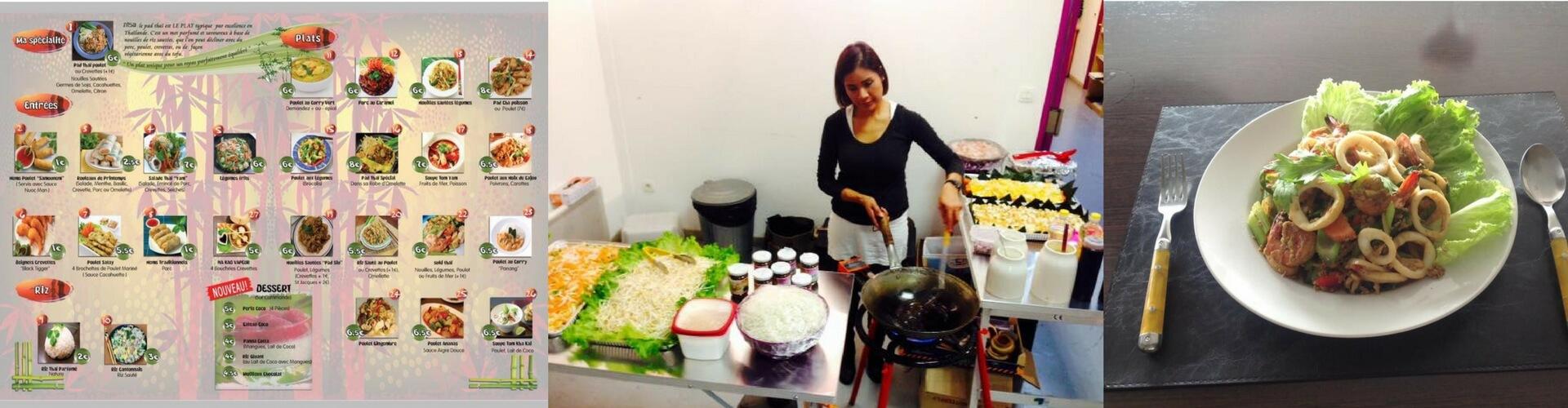 Nisa Thaï Shop plats à emporter Thaïlandais à Péret