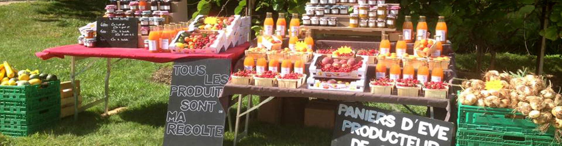Paniers d'Eve, producteur de fruits, sirops, confitures et légumes à Canet en Coeur d'Hérault