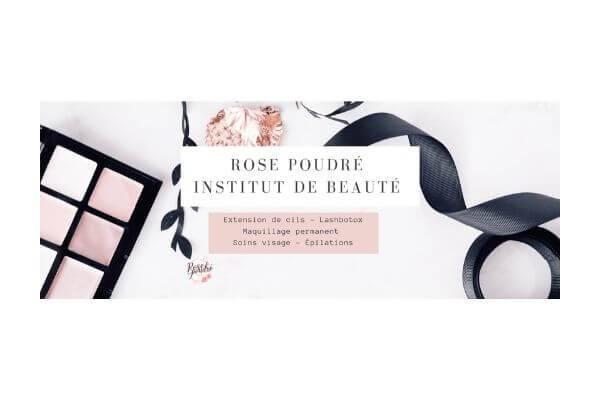 Rose poudré Institut de beauté