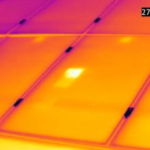 Thermographie infrarouge panneaux photovoltaïque