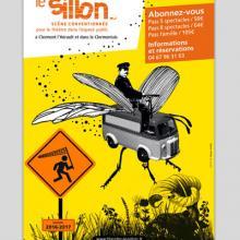 Le Petit Monde de la Communication agence de communication à Gignac dans l'Hérault, affiche pour le théâtre le sillon de clermont l'héraut