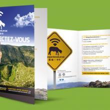 Le Petit Monde de la Communication agence de communication à Gignac dans l'Hérault, campagne de communication pour l'office du tourisme du lodévois larzac