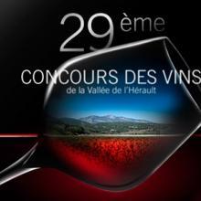 Le Petit Monde de la Communication agence de communication à Gignac dans l'Hérault, affiche concours des vins de la vallée de l'hérault