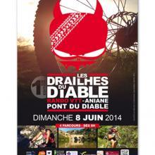 Le Petit Monde de la Communication agence de communication à Gignac dans l'Hérault, affiche les drailhes du diable