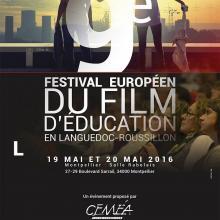 Le Petit Monde de la Communication agence de communication à Gignac dans l'Hérault, affiche festival du européen du film d'éducation