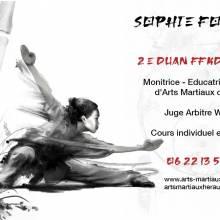 MENG DIAO, Sophie Foucher, Monitrice, Educatrice sportive et juge Arbitre Wushu