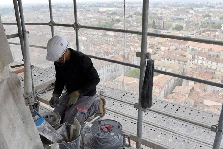 Restauration de la cathédrale Sainte Anne à Montpellier par l'entreprise Muzzarelli et Fils du Bosc en Coeur d'Hérault
