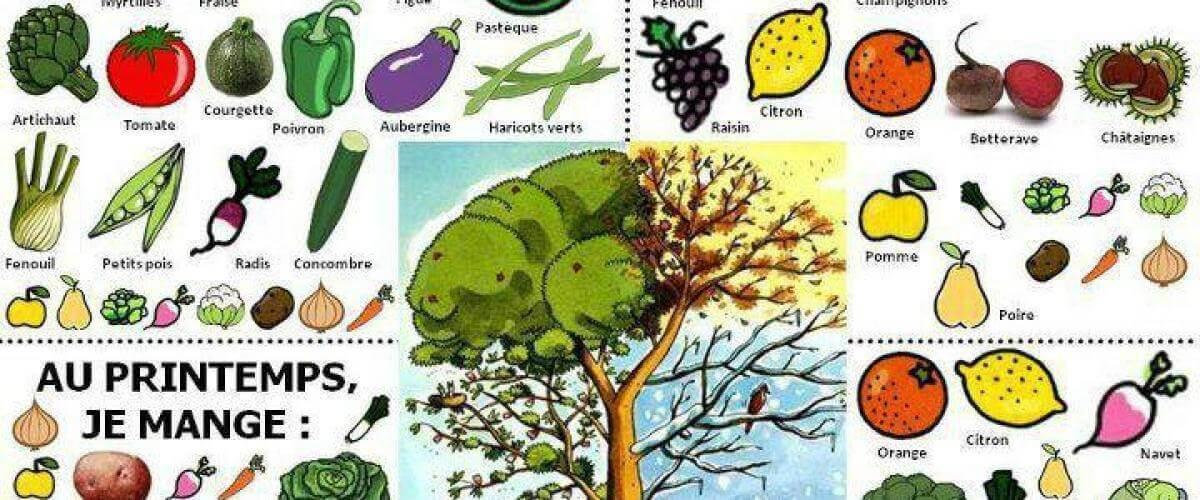 Calendrier de saison des fruits et légumes